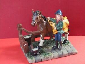 Pony & Rider in Stable Yard Ornament Figurine