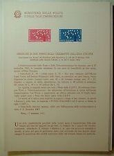 1962  ITALIA  Bollettino Postale N° 86 Europa