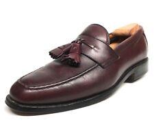 Sz. 8 D  ALLEN EDMONDS Wingham Burgundy Tassel Loafers Made In USA