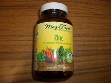 MegaFood Zinc 60 Tablets Promotes Immune Health Exp 11/2022