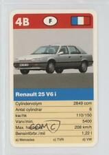 1990 ACE Super-Trumf Cars #4B Renault 25 V6 i Non-Sports Card 0w6
