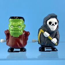 Halloween Wind Up Walker Toys Set Of 2 Frankenstein Grim Reaper