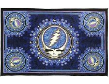 New Large 3D Blue Steal Your Face Grateful Dead Tapestry Gift Wall Hanging SYF