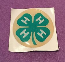 """4-H Club County 4H Fair 2"""" Inch Epoxy Dome Car Decal Sticker Emblem"""