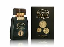 PROFUMO UOMO GOLD NEW BRAND EAU DE TOILETTE UOMO PRESTIGE NATURAL SPRAY  100ML