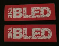 Lot Of 2 The Bled Stickers (2005 Vagrant Records Found In The Flood Hardcore)