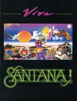SANTANA VIVA 1988 TOUR CONCERT PROGRAM BOOK-CARLOS SANTANA-GREGG ROLIE-NM 2 MINT