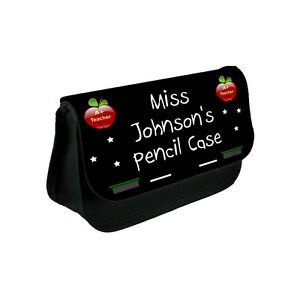 Personalised Teacher Teaching Assistant Pencil Case Bag Gift Present