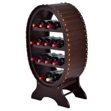 13 Bottles 4 Tier Shelves Vintage Wood Wine Rack Storage Holder Liquor Cabinet