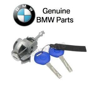 For BMW E46 S-Series 323Ci Front Driver Left Door Lock Cylinder w/ Key Genuine