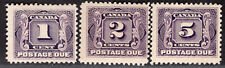 CANADA 1906/28 POSTAGE DUE STAMP Sc. # J 1/2 AND J 4 MNH