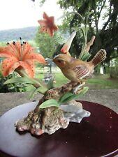 Vintage Homco 1993 Figurine Masterpiece Porcelain- Birds of the Season- Wren