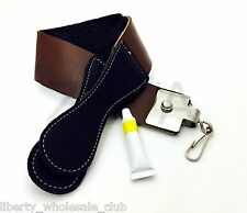 Professional Barber Leather Strop Straight Razor Sharpening Shaving DOVO SALE