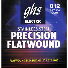 GHS Precision Flatwound Electric Guitar Strings stainless steel set 900 12-50