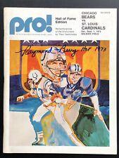 Raymond Berry Signed 1973 Chicago Bears vs. Cardinals Football Program BX4