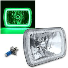 "(1) 7X6"" Plasma Green COB LED Glass/Metal Headlight Halogen Light Bulb Headlamp"