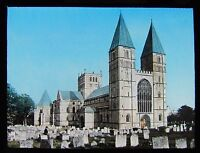 HAND COLOURED Glass Magic Lantern Slide SOUTHWELL CATHEDRAL C1890 PHOTO
