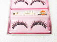 Black False Eyelashes Design Eyelash Beauty Natural Style w/Glue TS014 10 Pairs