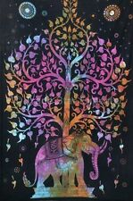 Tie Dye Tree Of Life Tapestry Indian Cotton Bedspread Hippie Wall Hanging Throw