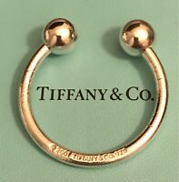 Tiffany Co. Sterling Silver .925 Large Horseshoe Shaped KeyChain KeyRing 22.9 Gr