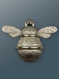Brass Bee Door Knocker - Nickel Finish - Solid Brass Bumble Bee Door Knocker