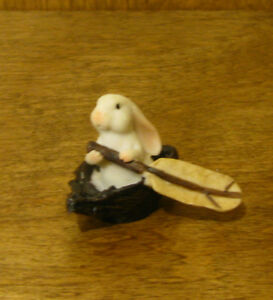 Top Collection Enchanted Story Fairy Garden #4033 RABBIT ROWING, 1.5""