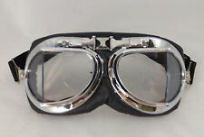 New Black Padded Steampunk Alternative Cyber Fantasy Goggles Clear Lens Glasses