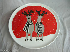 Vintage MIKASA RUDOLPH THE RED NOSE REINDEER CHRISTMAS PLATTER CHOP PLATE SNOW