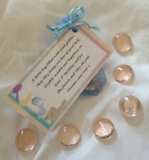 1St Birthday Gift - Bag Of Wish Pebbles For baby Boy Or Girl In Blue White Pink