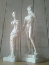 2 Vintage Replica Classical Sculpture Figurines Aphrodite And Michelangelos...
