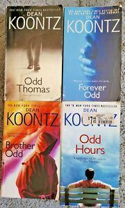DEAN KOONTZ ODD THOMAS SERIES TITLES PAPERBACK 4 BOOK LOT SUPERNATURAL THRILLER