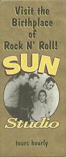 RARE / FLYER - ELVIS PRESLEY : SUN STUDIO -MEMPHIS TENNESSEE USA U2 BONO BB KING
