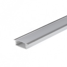 Set Profilo Alluminio LED Incasso Largo CC31 per Strip 20mm + Tappi Cover Ganci