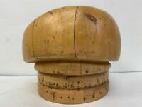 """Superb Wood Wooden Hat Block Head Beret Style Form Display Mold Millinery 22""""1/2"""