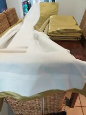 """4 Fully Lined Lime Green Curtains 109"""" X 50"""""""