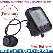 Bike Computer Wireless Cycling Bicycle Odometer Speedometer Waterproof 25 Functi