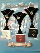 Woman Fashion Religious Jewelry Prayer Box Necklace with Pendant, bible & chain
