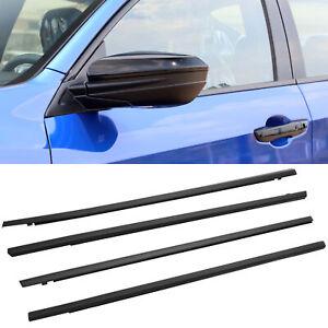 4PCS Weatherstrip Window Moulding Trim Seal Belt For Honda Civic Sedan 2016-2021