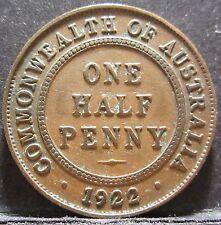 1922 Australia 1/2d Half Penny #0010