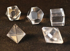 5 formes de  Platon Quartz dodecaedre icosaedre octaedre hexaedre tetraedre