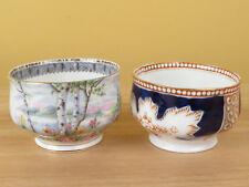 Antique Royal Albert Silver Birch and Royalty Porcelain Open Sugar Bowl Lot  R