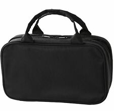MUJI Japanese Cosmetic Case beauty Large Black 4.7 x 8.2 x 3 in