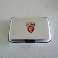 AFL Brisbane Lions Metal Business Card Holder