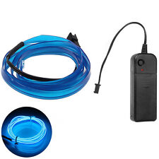 Neon LED Car Light  Glow EL Wire String Strip Rope Tube Dance Party + Controller