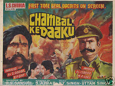 CHAMBAL KE DAKU (1982) PRESS BOOK BOLLYWOOD MAJOR CAST EX DACOITS