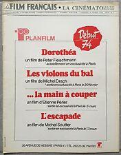 Magazine LE FILM FRANCAIS Cinématographie Française PLANFILM Dorothea... 1974 *