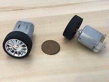 2 Sets 130 motor + 26MM Diameter rubber Car Robot Tire Wheel DC Motor C32