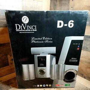 DIVINCI  D-6 INNOVATIVE SOUND & BASS .5.1 Receiver Limited Edition Platinum NIB