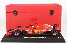 Ferrari SF 71-H  GP Canada S. Vettel mit Koffer und PC-Box  BBR 1:18 NEU OVP