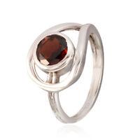 echte Edelsteine facettierten Granat 925 Sterling Silber Ring Geschenk für DE